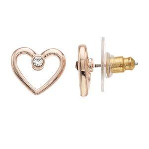 NWT! LC Lauren Conrad Open Heart Stud Earrings